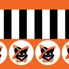 Cat Witch Stripes Border