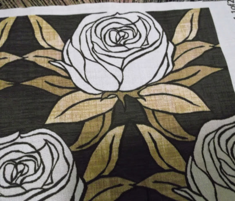 White Gold Rose Border