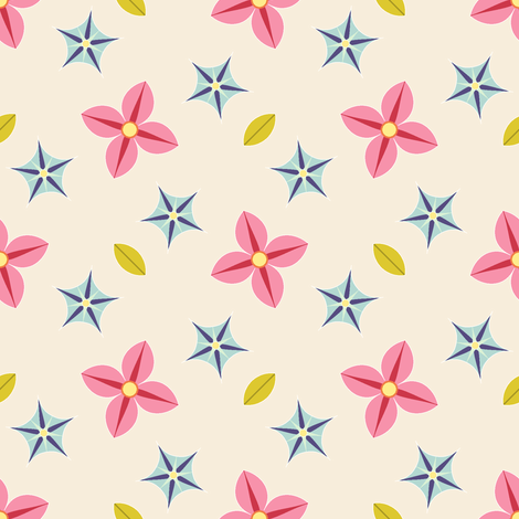 04196993 : S43C bi-floral : scattered fabric by sef on Spoonflower - custom fabric
