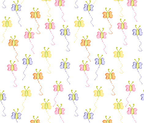 Butterflies are Free fabric by little_dove on Spoonflower - custom fabric