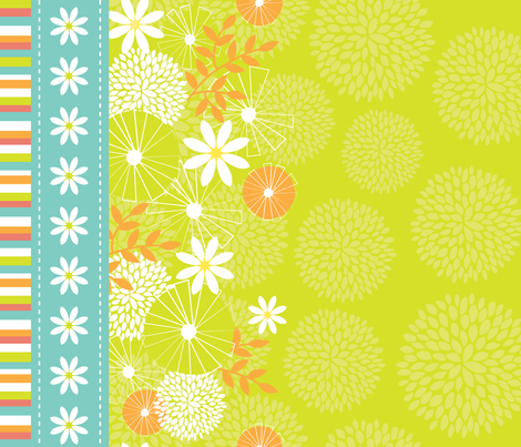 Le temps des marguerites fabric by snowflower on Spoonflower - custom fabric