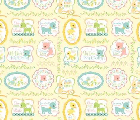 My Deer My Darling Sweet Signs fabric by sheri_mcculley on Spoonflower - custom fabric