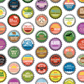 Soda Nation* (Revisited Colors) || bottlecap bottle cap national park America United States nps polka dots typography cola travel summer food drink vacation