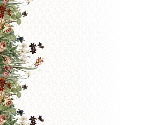 flower boarder tall wallpaper lilithdeanu spoonflower