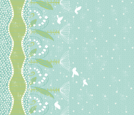 Claire's Garden fabric by pattyryboltdesigns on Spoonflower - custom fabric