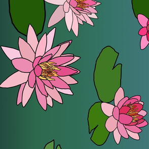 Ombre Water Lily Border