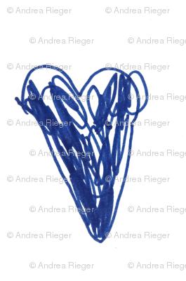 doodle heart by Jule blue