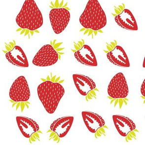 strawberries (no background)