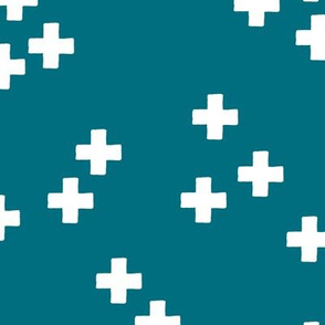 gender neutral scandinavian style cross plus sign geometric illustration pattern teal