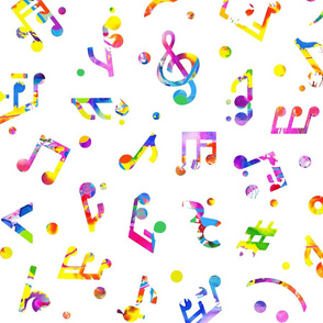 Music Notes Colored large scale