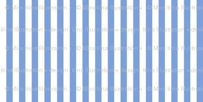 stripes vertical cornflower blue