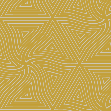 Pyramid (Mustard)  fabric by david_kent_collections on Spoonflower - custom fabric