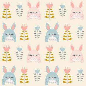 Bunnies & Tulips Natural