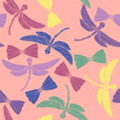 Dragonflies and Bows (pink)