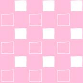 Squares Pink n White