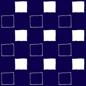 Squares Navy Blue