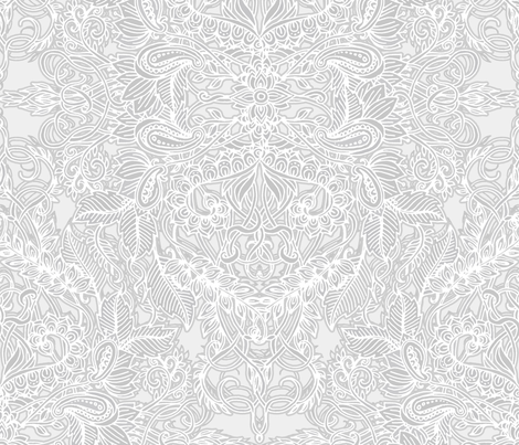 Frost ash art nouveau doodle pattern fabric by micklyn on spoonflower custom fabric