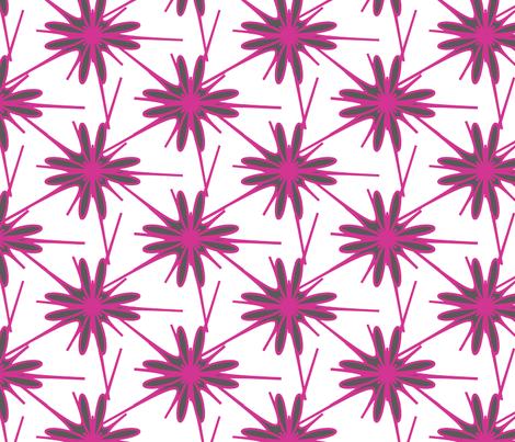 pinkflowers1-01 fabric by jaccii on Spoonflower - custom fabric