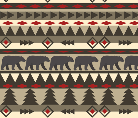 navajobear fabric by bluegreenplanet on Spoonflower - custom fabric