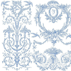 Capetian Toile in blueberry