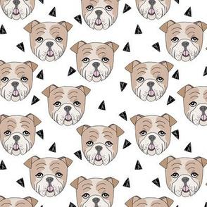 english bulldogs // white english bulldog smaller cute dog dog breed fabric