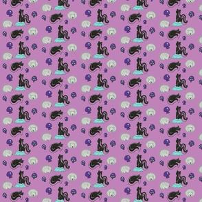 Friend or Foe in Purple and Aqua