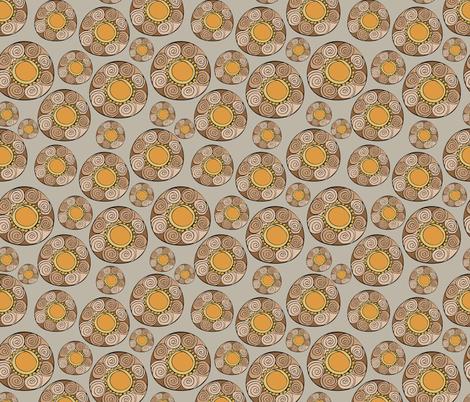 retro circle patterns - grey fabric by rachelmacdonald on Spoonflower - custom fabric