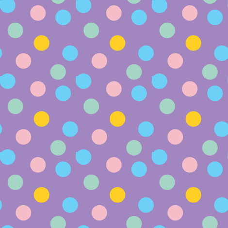 pastel confetti on purple fabric by pencilmein on Spoonflower - custom fabric