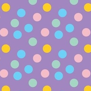 pastel confetti on purple