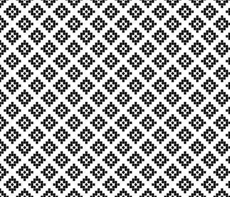 southwest black and white minimal design  fabric by charlottewinter on Spoonflower - custom fabric