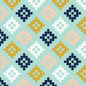 aztec blush mint mustard trendy hipster aztec southwest design
