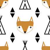 teepee fox white