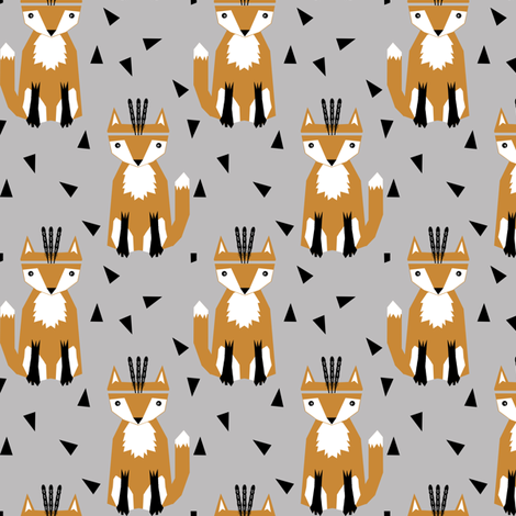 southwest fox feather headband trendy triangle hipster print for southwest nursery baby leggings fabric by charlottewinter on Spoonflower - custom fabric