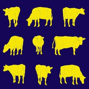 Navy Gold Dairy Cows
