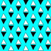 Turquoise Triangle Diamonds