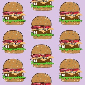 Burgers on purple