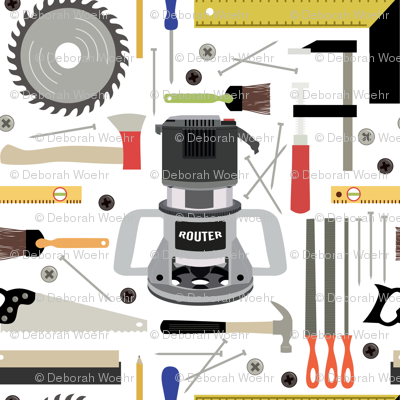 Woodshop Tools Wallpaper Dawsurfacedesign Spoonflower