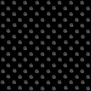 Mini Me Black and White Dot