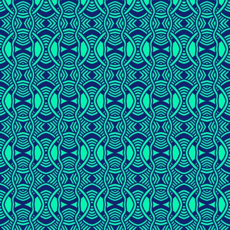 Serpentine Circles Aqua 1 fabric by eve_catt_art on Spoonflower - custom fabric
