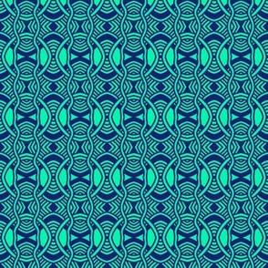 Serpentine Circles Aqua 1