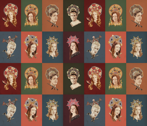Saints of Sunnydale  fabric by mycolour on Spoonflower - custom fabric