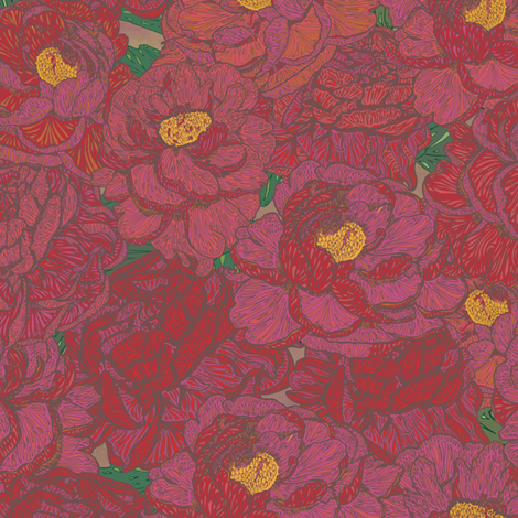 Peony Perfection fabric by lottibrown on Spoonflower - custom fabric