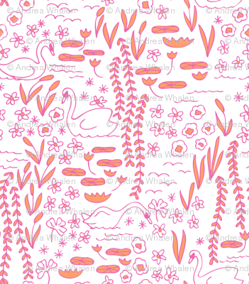 Swan Park in hothouse (pink/orange)