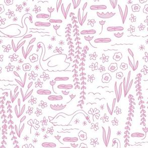 Swan Park in tea rose (pinks)