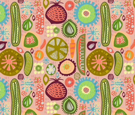Pickles in my Pantry fabric by slumbermonkey on Spoonflower - custom fabric