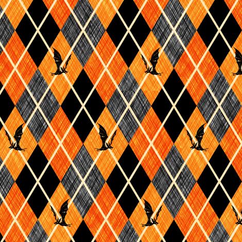 Night Hunter Argyle fabric by thecalvarium on Spoonflower - custom fabric