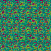 Tropic Flower  - Half Brick - Magenta, Lime Green, Teal