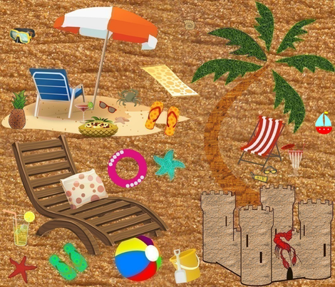 SANDY BEACH fabric by bluevelvet on Spoonflower - custom fabric