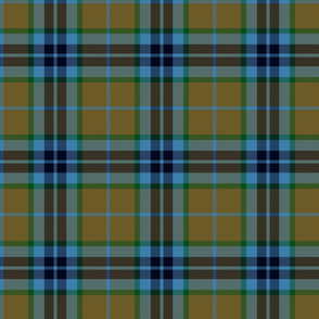 Thomson / Thompson / MacTavish hunting tartan - olive/blue