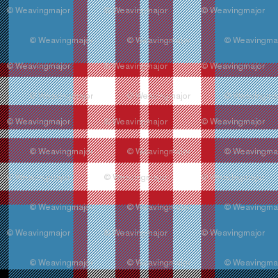 Thomson / Thompson tartan - red on blue